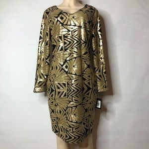 Gold & Black & Marina Sequined Dress. Size 12